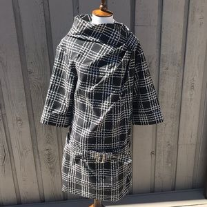 MARC BY MARC JACOBS Charcoal Gray Plaid Dress